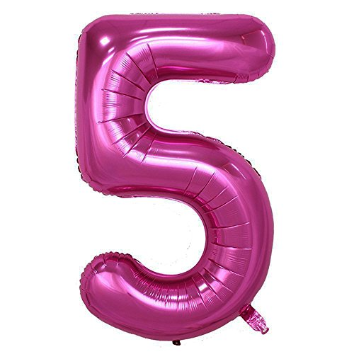 Langxun 40inch Pink Foil Number Balloons For Birthday Party Supplies And Decorations Photo Booth Props 5
